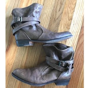 Frye Buckle Ankle Boots
